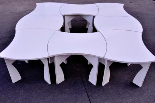 creative modular white table 1 Creative modular white table by Eric Billig