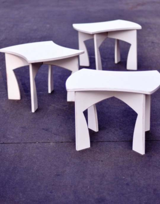 creative modular white table 2 Creative modular white table by Eric Billig