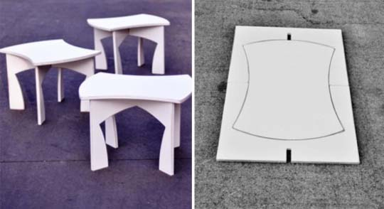 creative modular white table 3 Creative modular white table by Eric Billig