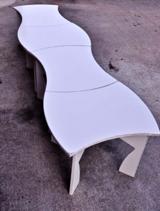 creative modular white table 4 Creative modular white table by Eric Billig