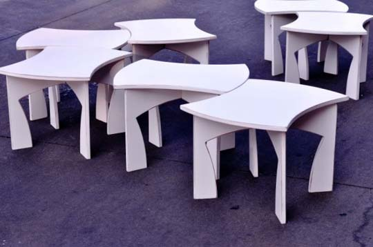 creative modular white table 8 Creative modular white table by Eric Billig